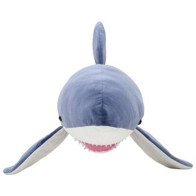 vidaXL Requin en peluche 200 cm Bleu et blanc