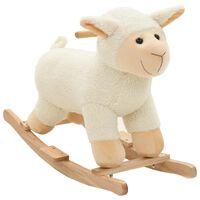 vidaXL Mouton à bascule Peluche 78 x 34 x 58 cm Blanc