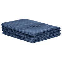 vidaXL Tapis de tente 300x300 cm Bleu