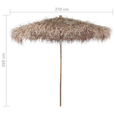 vidaXL Parasol en bambou avec toit en feuille de bananier 270 cm