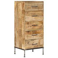 vidaXL Coffre à tiroirs 45 x 35 x 106 cm Bois de manguier massif