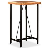 vidaXL Table de bar Bois massif d'acacia 60x60x107 cm