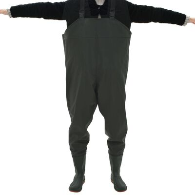 vidaXL Pantalon échassier avec bottes Vert Pointure 44