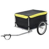 vidaXL Remorque de bicyclette Noir et jaune 65 kg
