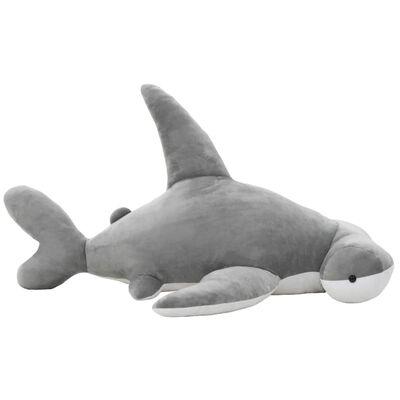 vidaXL requin-marteau en peluche Gris