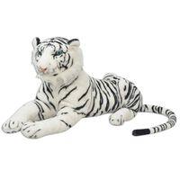 vidaXL Tigre en peluche Blanc XXL
