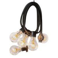 KONSTSMIDE Guirlande lumineuse avec 10 ampoules Caoutchouc Extra chaud