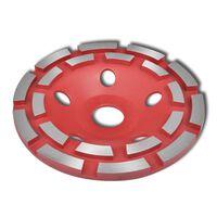 vidaXL Disque de broyage diamanté à double ligne 180 mm