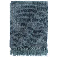 vidaXL Couverture en coton 220 x 250 cm Bleu indigo