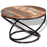vidaXL Table basse Bois de récupération massif 60 x 60 x 40 cm