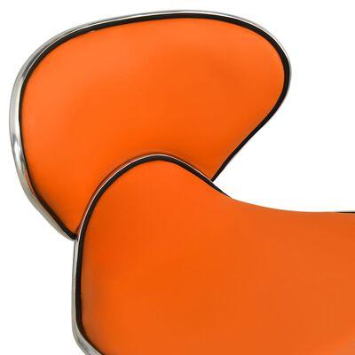 vidaXL Tabouret de salon et spa Orange Similicuir