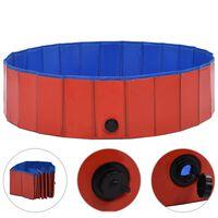 vidaXL Piscine pliable pour chiens Rouge 120x30 cm PVC