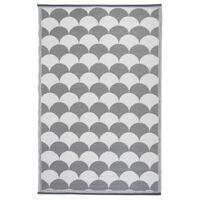 Esschert Design Tapis d'extérieur 180x121 cm Gris et blanc OC24