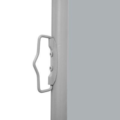 vidaXL Auvent latéral rétractable 160x600 cm Gris