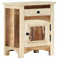 vidaXL Table de chevet 40 x 30 x 50 cm Bois de récupération massif