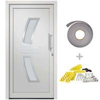 vidaXL Porte d'entrée Blanc 98x208 cm