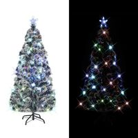 vidaXL Arbre de Noël artificiel et support/LED 150 cm Fibre optique