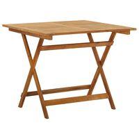 vidaXL Table pliable de jardin 90x90x75 cm Bois d'acacia massif