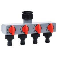 vidaXL Minuterie d'eau automatique de jardin avec vanne à 4 voies