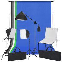vidaXL Kit de photo avec table de photo, lumières et toiles de fond