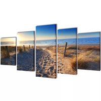 Set de toiles murales imprimées Plage de sable 200 x 100 cm