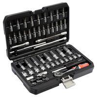 YATO Kit d'outils YT-14501 de 56 pièces Métal Noir