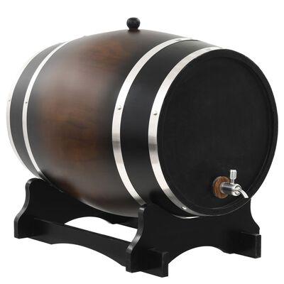 vidaXL Tonneau à vin avec robinet Pin massif 35 L