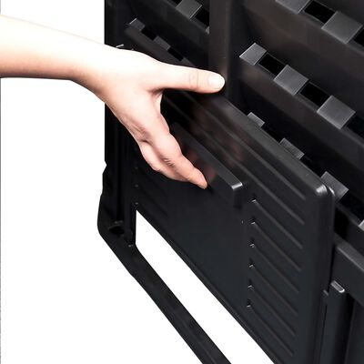 vidaXL Composteur de jardin Noir 68,9x68,9x83,9 cm 360 L
