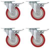 vidaXL 8 pcs Roulettes pivotantes 100 mm