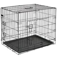 @Pet Cage pour chien 63x44x50,5 cm Métal Noir 15001