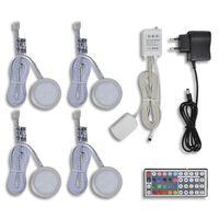 Kit de 4 Spots LED RGB avec télécommande