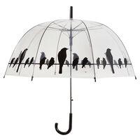 """Parapluie transparent """"oiseaux sur un fil"""" Esschert Design TP166"""
