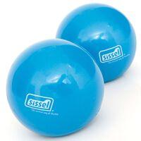 Sissel Ballon de tonification de Pilates 2 pcs 900 g Bleu SIS-310.038