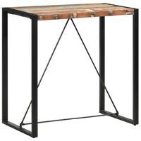 vidaXL Table de bar 110x60x110 cm Bois massif de récupération