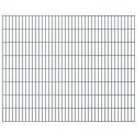 vidaXL Panneaux de clôture de jardin 2D 2,008x1,63 m 6 m total Gris