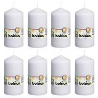 Bolsius Bougies pilier 8 pcs 130x68 mm Blanc
