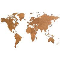 MiMi Innovations Décoration carte du monde mural Bois Marron 280x170cm