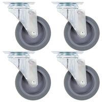 vidaXL 8 pcs Roulettes pivotantes 75 mm