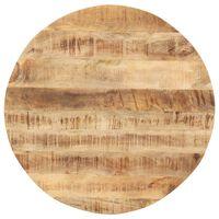 vidaXL Dessus de table Bois de manguier solide Rond 15-16 mm 60 cm