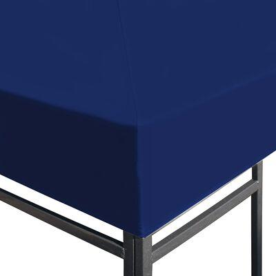vidaXL Toile supérieure de belvédère 310 g / m² 3 x 3 m Bleu