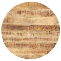 vidaXL Dessus de table Bois de manguier solide Rond 25-27 mm 60 cm