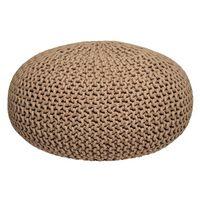 LABEL51 Pouf tricoté Coton L Beige