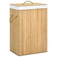 vidaXL Panier à linge Bambou 72 L