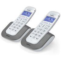 Profoon Ensemble de 2 téléphones sans fil gros boutons Blanc 2608 DUO