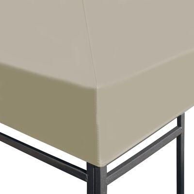 vidaXL Couverture de dessus de belvédère 310 g / m² 4x3 m Beige