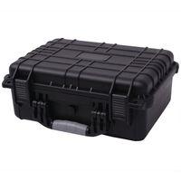 vidaXL Boîte de protection pour équipement 40,6 x 33 x 17,4 cm noir