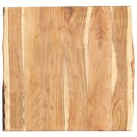 vidaXL Dessus de table Bois d'acacia massif 60x50-60x3,8 cm