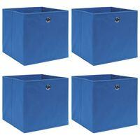 vidaXL Boîtes de rangement 4 pcs Bleu 32x32x32 cm Tissu