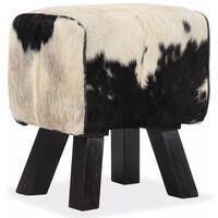 vidaXL Tabouret Cuir véritable de chèvre 40 x 30 x 45 cm