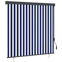 vidaXL Store roulant d'extérieur 170x250 cm Bleu et blanc